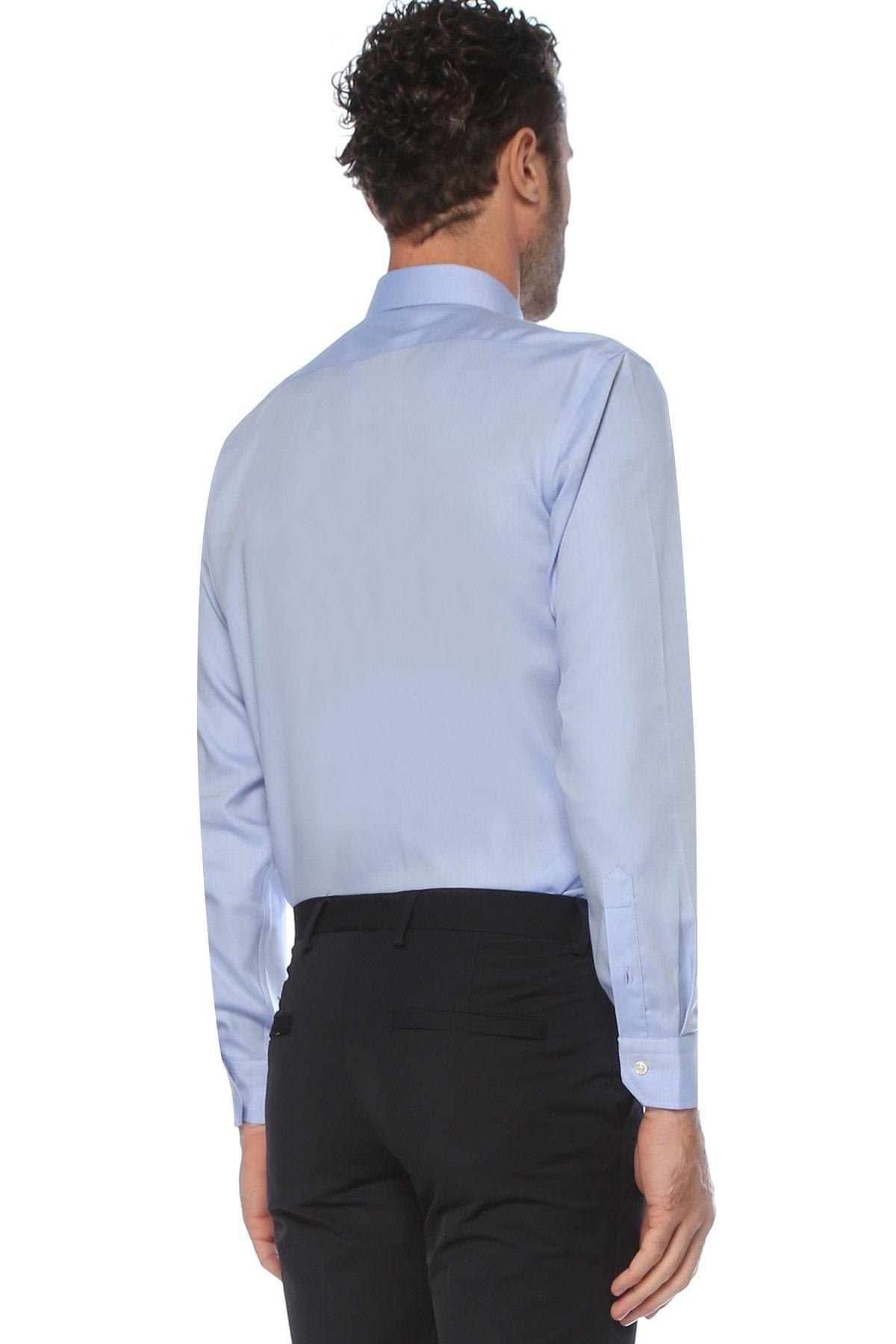 Network Erkek Koyu Mavi Non Iron Koyu Mavi Desenli Gömlek 1075268