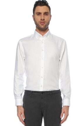 Network Erkek Beyaz Non Iron Beyaz Desenli Gömlek 1075280 0