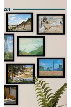 Ho27 12'li Claude Monet Çizimleri Tablo Seti (siyah Çerçeveli Görünümlü) 0