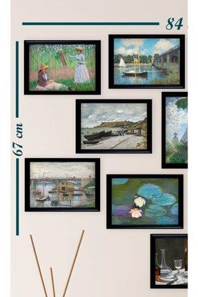Ho27 12'li Claude Monet Çizimleri Tablo Seti (siyah Çerçeveli Görünümlü) 3