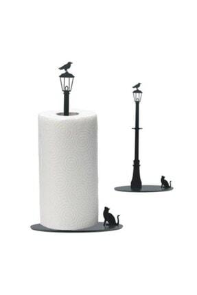 thorqtech Metal Kağıt Havluluk Kedi/kuş Figürlü Dekoratif Siyah Mat Elektrostatik Boya 0