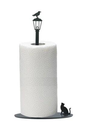thorqtech Metal Kağıt Havluluk Kedi/kuş Figürlü Dekoratif Siyah Mat Elektrostatik Boya 1