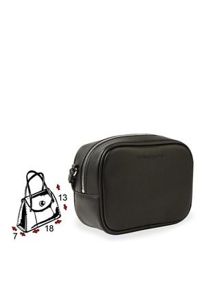Calvin Klein Kadın Siyah Beyaz Logo Baskılı Ayarlanabilir Askılı Çanta K60k607202 Bds 3