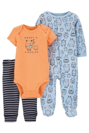 Picture of 3 Parçalı Monster Sleep & Play & Bodysuit Seti