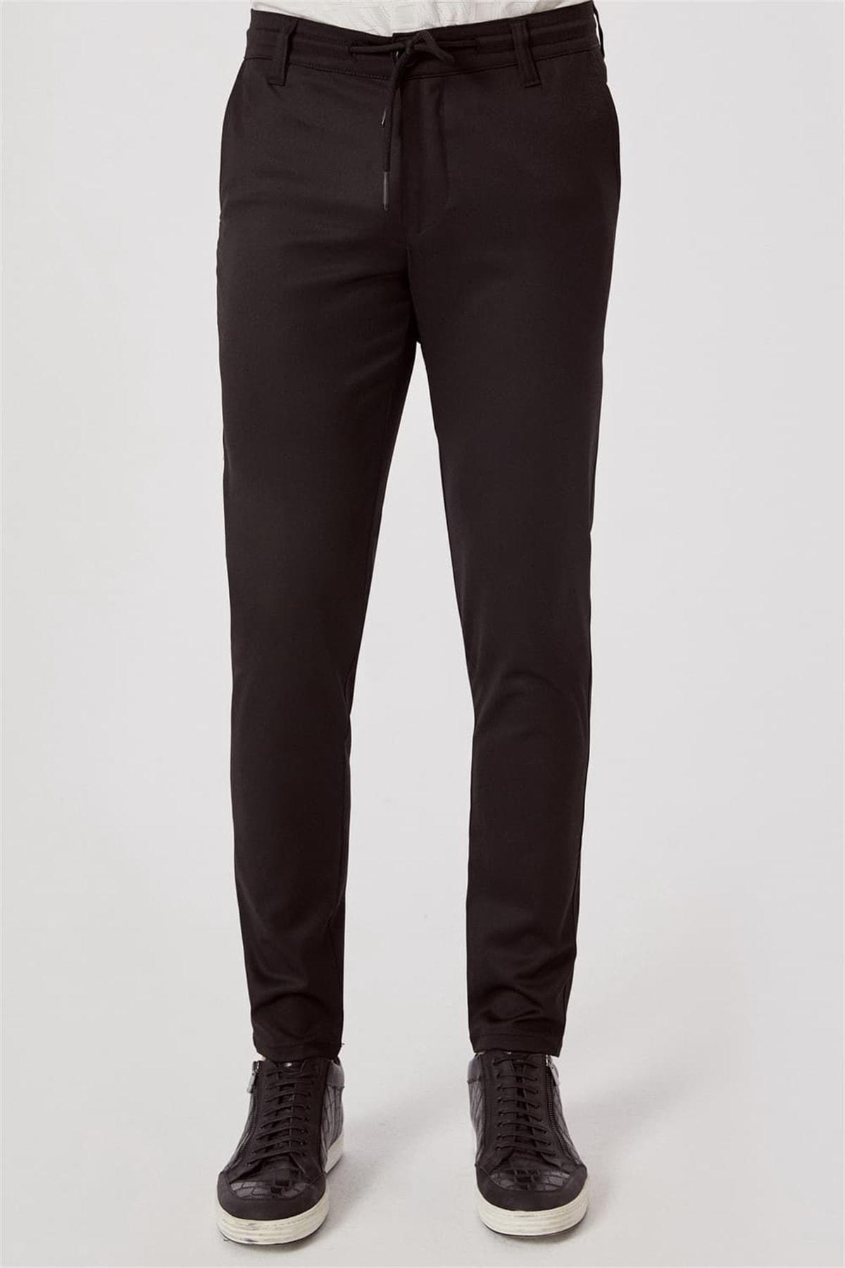 Efor ATP 015 Rahat Kesim Siyah Spor Pantolon 1