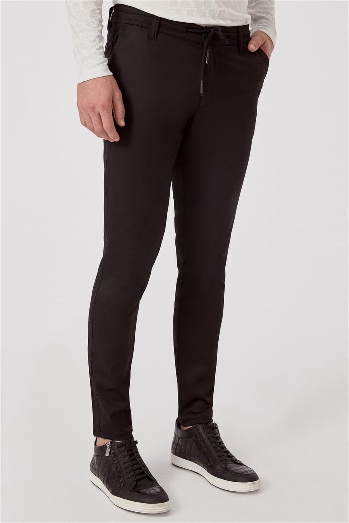 Efor ATP 015 Rahat Kesim Siyah Spor Pantolon 2