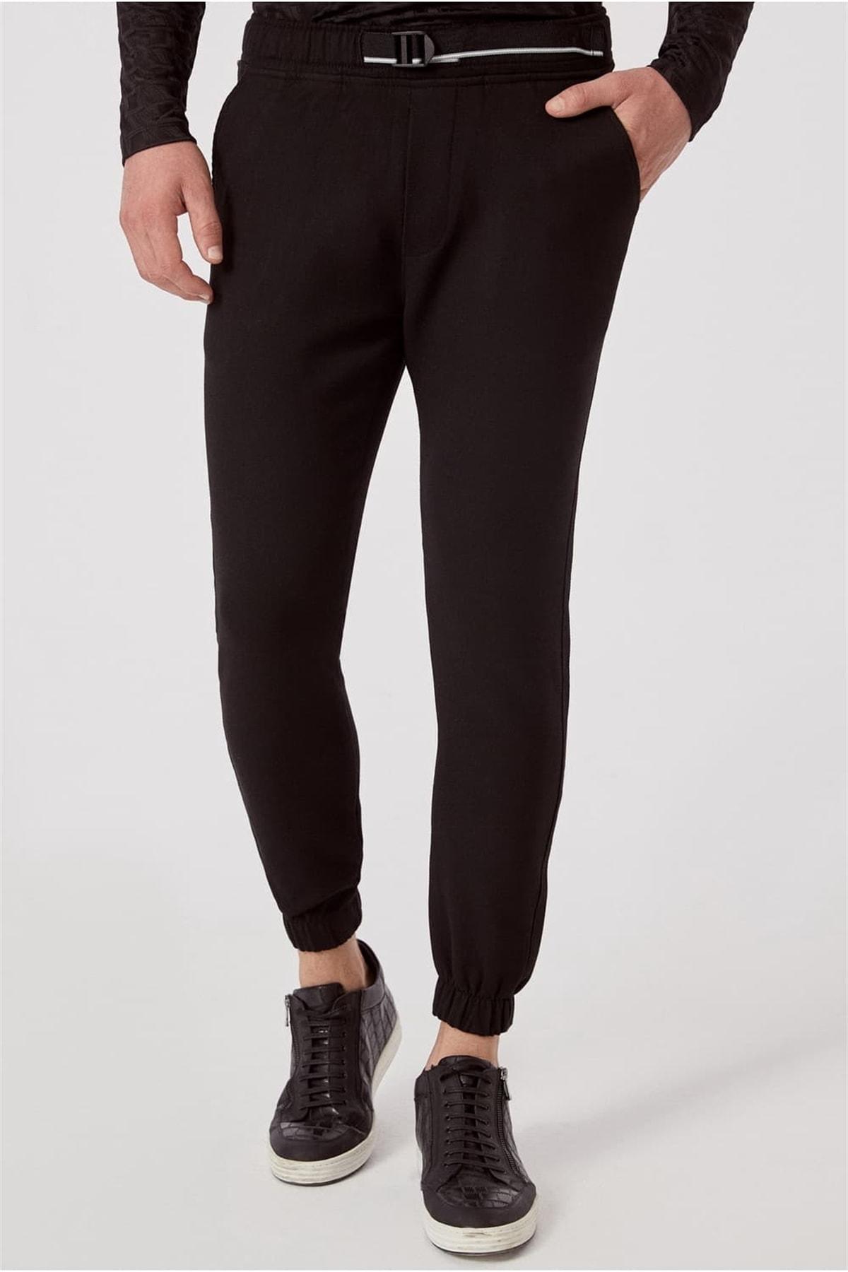 Efor ATP 017 Slim Fit Siyah Spor Pantolon 0