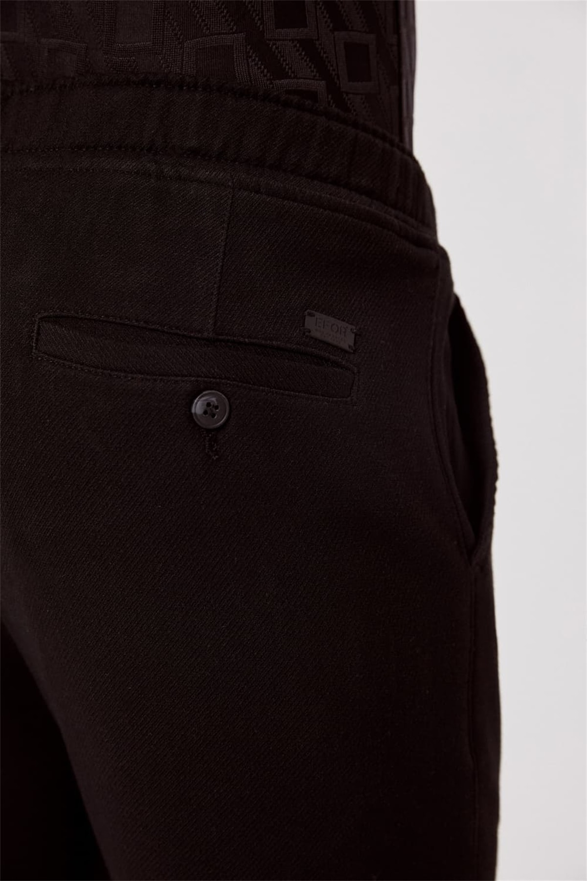 Efor ATP 017 Slim Fit Siyah Spor Pantolon 3