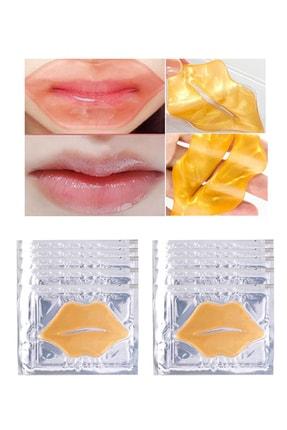 Xolo Gold Dudak Maskesi 10 Adet 24K Kristal Kolajen Dudak Maske Dudak Altın Maske 24 Ayar Altın 0