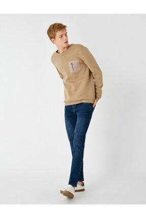 Koton Erkek Mavi Micheal Skinny Fit Jean Pantolon 4