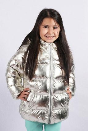 Kız Bebek Gümüş Kürk Astarlı Mont Kaban resmi
