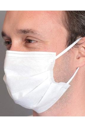 BSM Relax Beyaz Yassı Lastikle Extra Konfor Cerrahi Maske Toplam 100 Adet 1