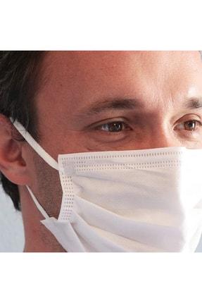 BSM Relax Beyaz Yassı Lastikle Extra Konfor Cerrahi Maske Toplam 100 Adet 2