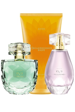 Avon Eve Truth Ve Eve Alluring Kadın Parfüm Enjoy Vücut Losyonu Paketi 0