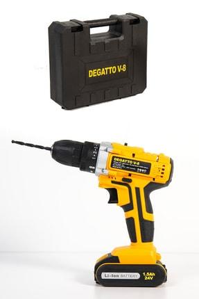 Pratiko Degatto V8 Çift Bataryalı 27 Parça Uç Seti Hediyeli Şarjlı Matkap 2