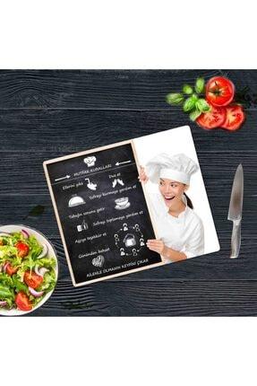 Saban Mutfak Kuralları Cam Kesme Tahtası Cam Kesme Tablası 30 vm X 40 cm 2