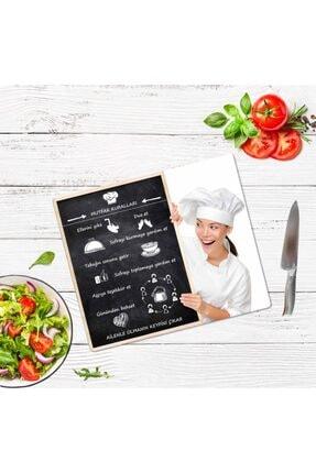 Saban Mutfak Kuralları Cam Kesme Tahtası Cam Kesme Tablası 30 vm X 40 cm 3