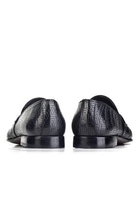 Cabani Erkek Siyah Hakiki Deri Klasik Ayakkabı 0KEP02AY003700 3