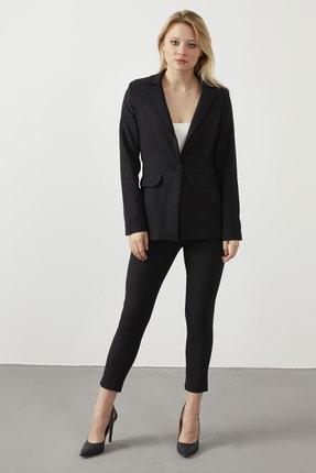 ELBİSENN Kadın Siyah Blazer Ceket Pantolon İkili Takım 0
