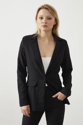 ELBİSENN Kadın Siyah Blazer Ceket Pantolon İkili Takım 1