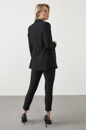 ELBİSENN Kadın Siyah Blazer Ceket Pantolon İkili Takım 3