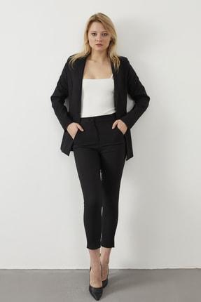 ELBİSENN Kadın Siyah Blazer Ceket Pantolon İkili Takım 4
