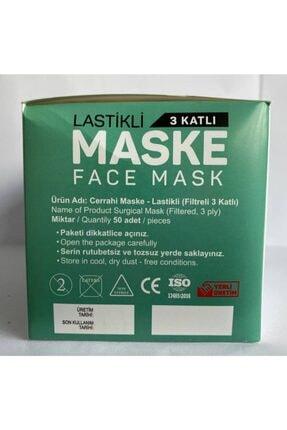 Bosmax 50'li Beyaz Spunbond Full Ultrasonik Maske 3katlı Burun Telli 3