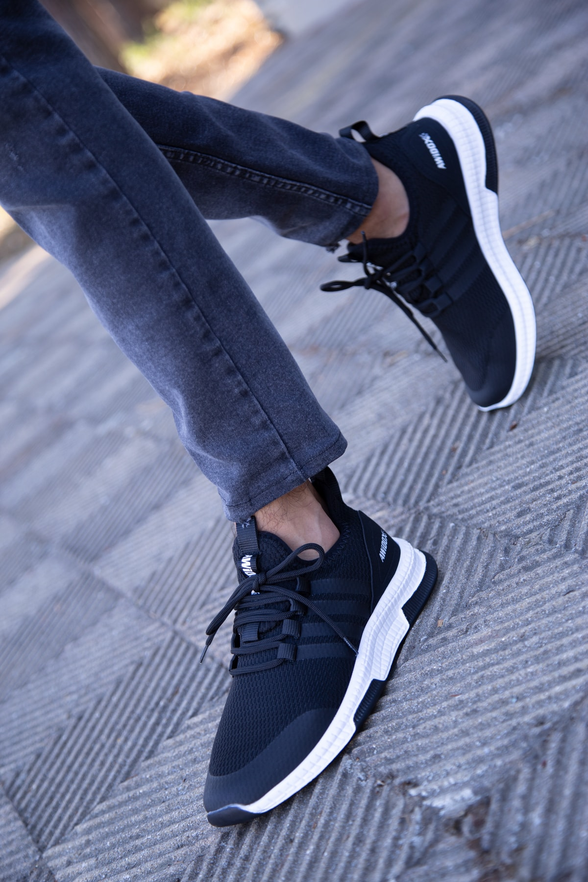 Erkek Siyah Sneaker 3033