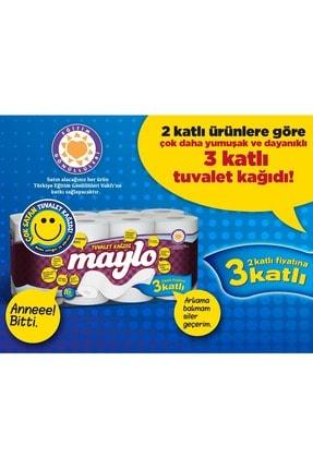 Maylo Tuvalet Kağıdı 3 Katlı 32 Li Paket+ 12 Li Kağıt Havlu (3 Katlı) 3
