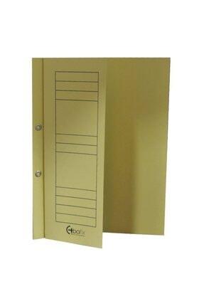 Bafix Yarım Kapak Dosya Karton Telli Sarı Tekli (1 Adet) 0