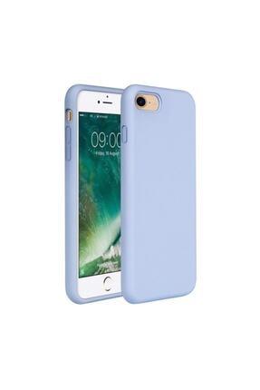 Zengin Çarşım Apple iPhone 7 - 8 - SE 2020 İçi Kadife Lansman Silikon Mavi Kılıf 0