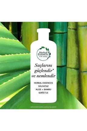 Herbal Essences Sülfatsız Güç Ve Nem Aloe + Bambu Şampuan 380 Ml + Saç Bakım Kremi 275 Ml 3