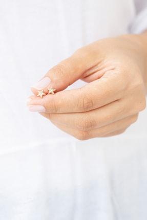 Gelin Pırlanta Kadın Altın 14 Ayar Pırlantalı Yıldız Küpe GLN300103 3