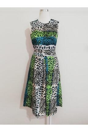 Vekem Kadın Leopar Desenli Midi Elbise 0