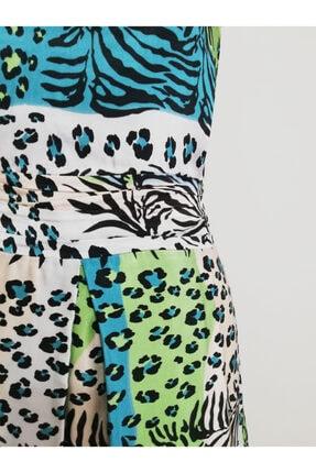 Vekem Kadın Leopar Desenli Midi Elbise 3