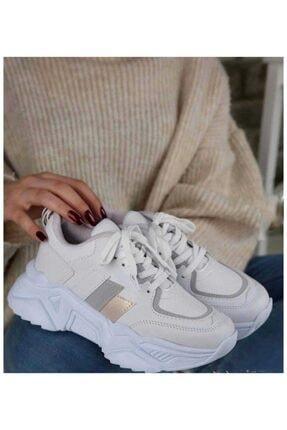 ZERBANOZ Kadın Beyaz Spor Ayakkabı 1