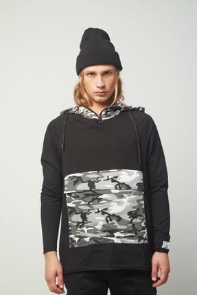 king brich Erkek Siyah Sweatshirt 0