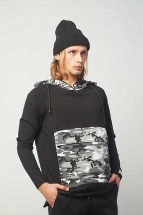 king brich Erkek Siyah Sweatshirt 1