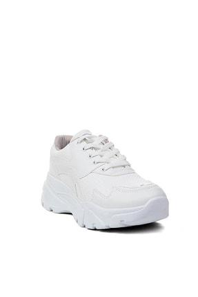 YABUMAN Unisex Beyaz Bağcıklı Sneaker 1
