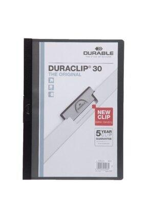 Durable 2200-s A4 Sıkıştırmalı Dosya Duraclip Ortadan Klipsli 30 Sayfa Siyah (5 Adet) 0
