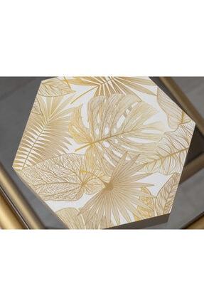 English Home Linear Leaf Mdf Dekoratif Kutu 15x17x5,5 Cm Krem 2