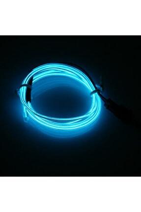 DEKOHOP Araç Içi Neon Ledi Ip Led 5 Metre Buz Mavi 1