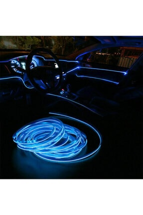 DEKOHOP Araç Içi Neon Ledi Ip Led 5 Metre Mavi 3