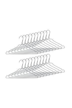 Ganteks Metal Elbise Askısı Kıyafet Askısı 100 Adet 0
