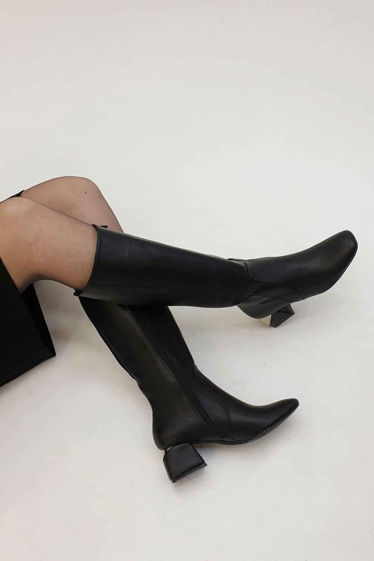 Marjin Minevsa Kadın Topuklu ÇizmeSiyah 2