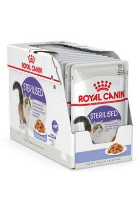 Royal Canin Gravy Sterilised Kısırlaştırılmış Yaş Kedi Maması 85 Gr-(12 Adetx85 Gr) 0