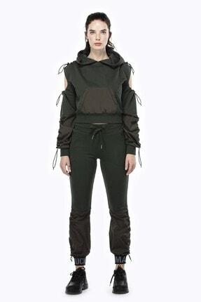 Ruck & Maul Kadın Yeşil Örme Pantolon 21061 10509 1