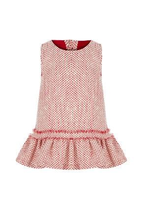 BLEU LAPİN BABY Kız Çocuk Kırmızı Desenli Elbise Lady Lisa 0
