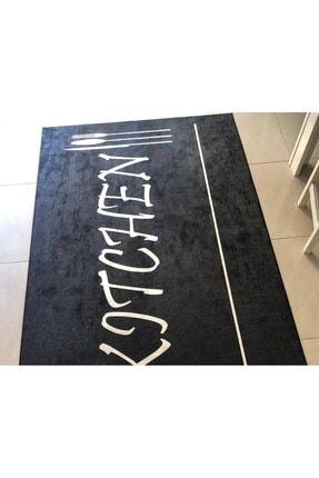 Apree Home Kitchen Siyah, Kaymaz Dod Tabanlı Mutfak Halısı 180 X 500 Cm 1