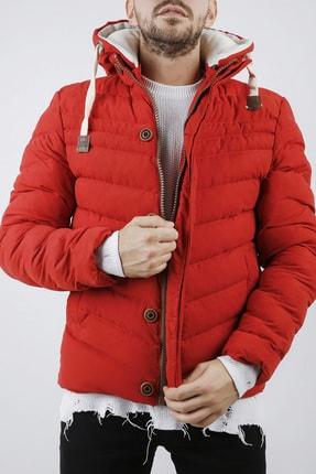 XHAN Erkek Kırmızı Kapüşonlu Comfort Slim Fit Şişme Mont 0yxe4-44076-04 2